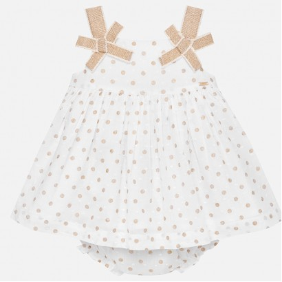 Baby Polka Dot Dress with Bloomers Mayoral