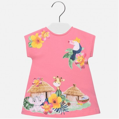 Baby Girls A-line Printed Dress Mayoral
