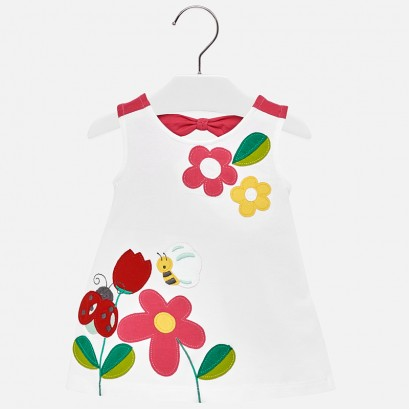 Baby Girls Knotted Back Detailed Dress Mayoral
