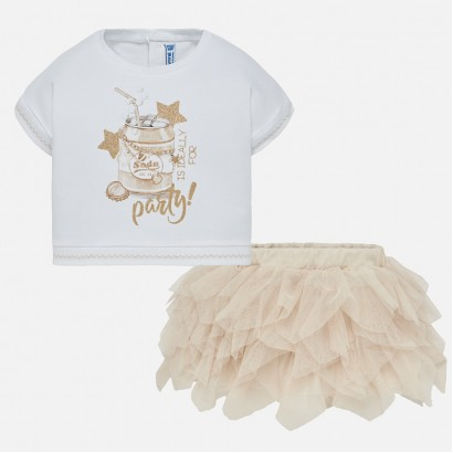 Baby Girl Blouse and Tulle Skirt Set Mayoral