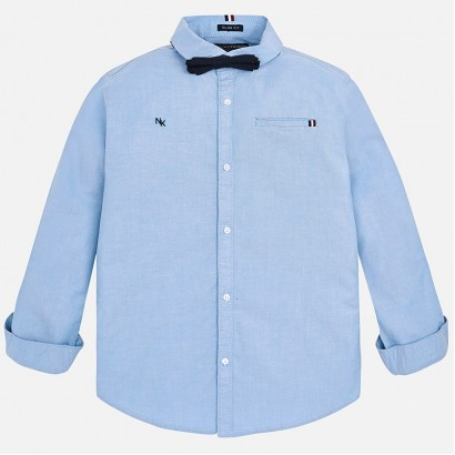 Boys Long Sleeve Shirt with a Bow Tie Mayoral