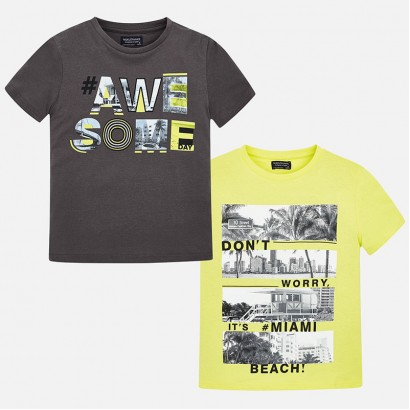 Boys Set of two t-shirt Mayoral