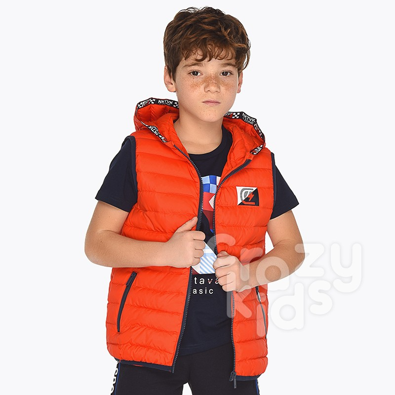 Boys Hooded Gilet Mayoral
