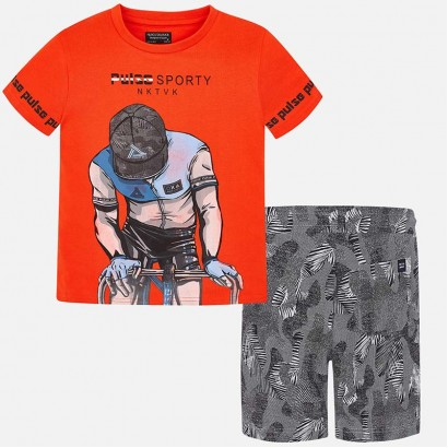 Boys T-shirt and Shorts Set Mayoral