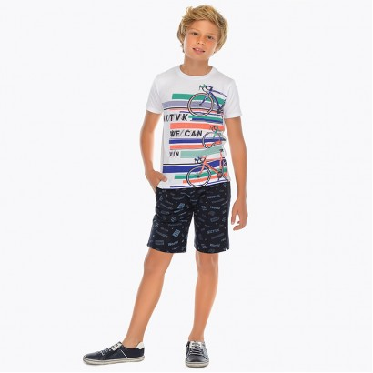 Boys Bicycle Print t-shirt and Shorts Mayoral