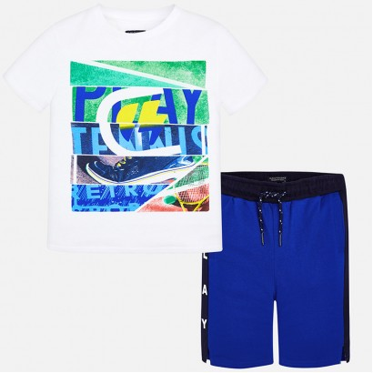 Boys Tennis Print T-shirt and Shorts Mayoral