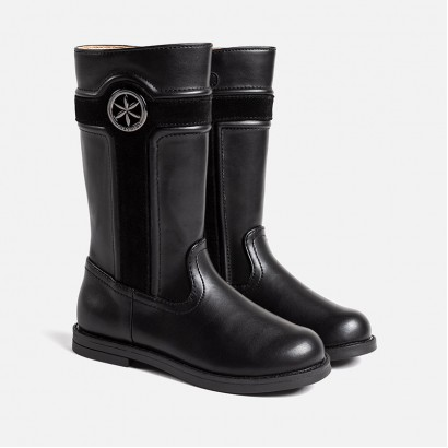Girls Flower Detail Boots Mayoral