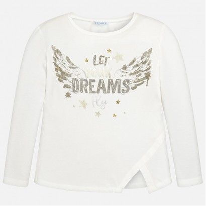 Girls Wings Print Long Sleeve t-shirt Mayoral
