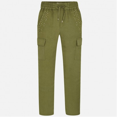 Girls Long Trouser with Strass Mayoral