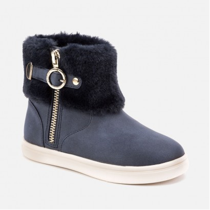 Kid's boots with buckles and fluff Mayoral