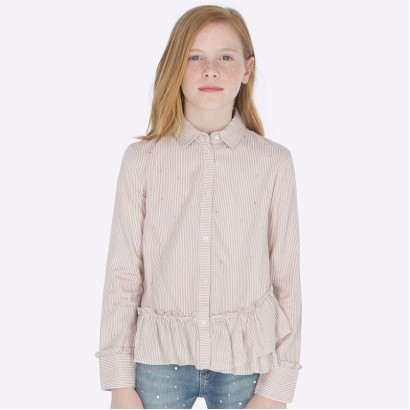 Striped girl's shirt Mayoral