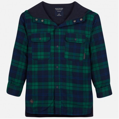 Kid's checked hooded shirt Mayoral.