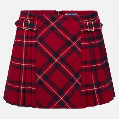 Checked kid's skirt Mayoral
