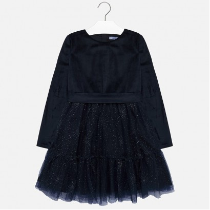 Kid's dress Mayoral with velvet and tulle