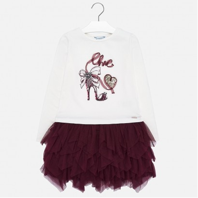 Kid's dress with tulle Mayoral