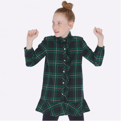 Checked kid's dress Mayoral