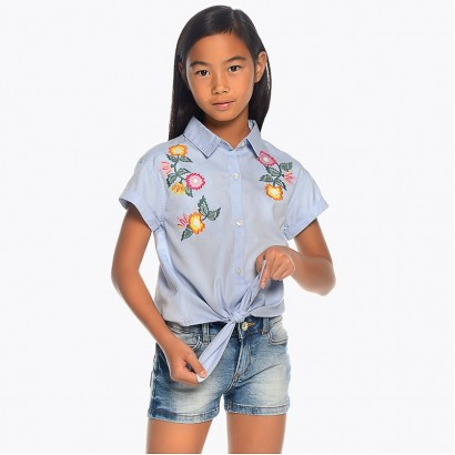 Kids Denim Shorts Mayoral