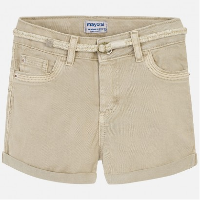 Girls Belted Denim Shorts Mayoral