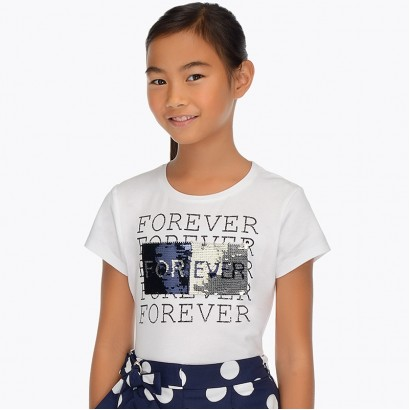 Girl's Sequin Applique t-shirt Mayoral