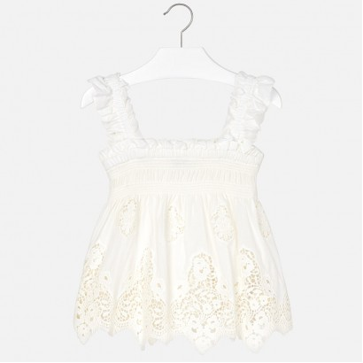 Girls Embroidered Strappy Blouse Mayoral