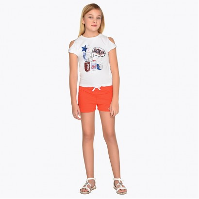 Girls Cold Shoulder T-shirt and Leggings Set Mayoral