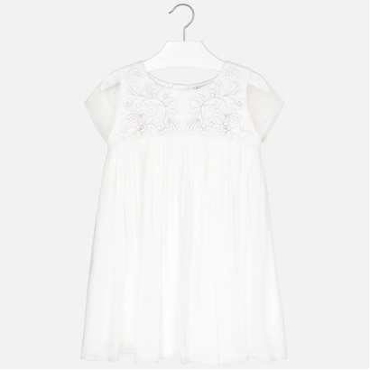 Kids Embroidered Frilly Dress Mayoral
