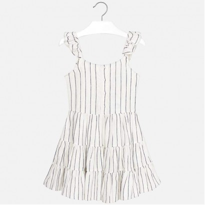 Girls Tiered Striped Dress Mayoral