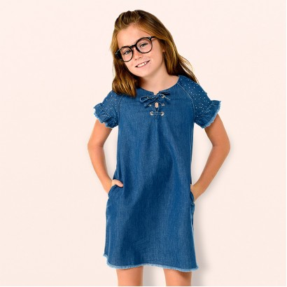 Girls Denim Dress Mayoral